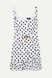 De La Vali Christabel ruffled polka-dot cotton-gauze dress