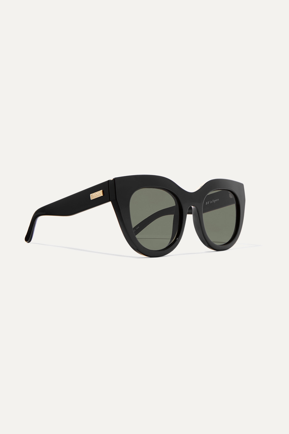 Le Specs Air Heart cat-eye acetate and gold-tone sunglasses