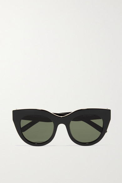 Air Heart Cat Eye Acetate And Gold Tone Sunglasses by Le Specs