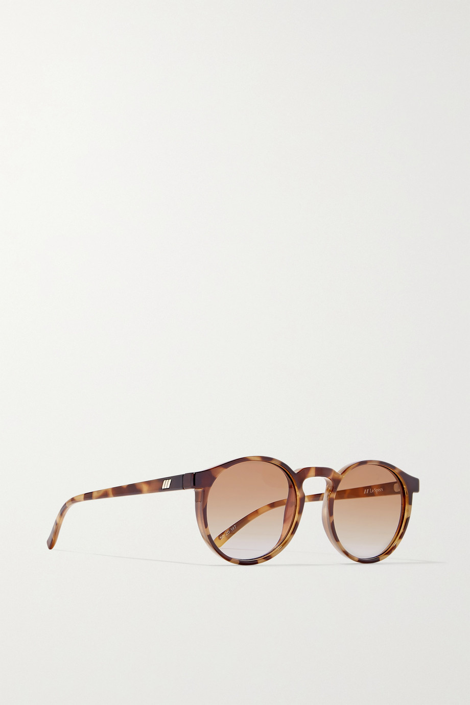 Le Specs Teen Spirit Deux round-frame tortoiseshell acetate sunglasses
