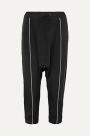 Alexander stretch-silk track pants