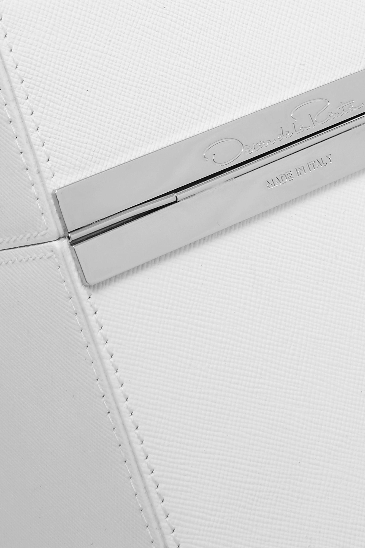 Oscar de la Renta Alibi textured-leather clutch