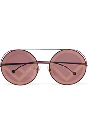 Round-frame metal sunglasses