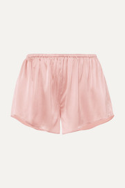 Skin Reina stretch-silk satin shorts