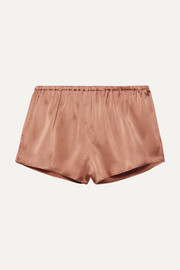 Reina stretch-silk satin shorts