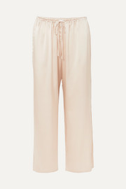 Rosetta stretch-silk satin pajama pants