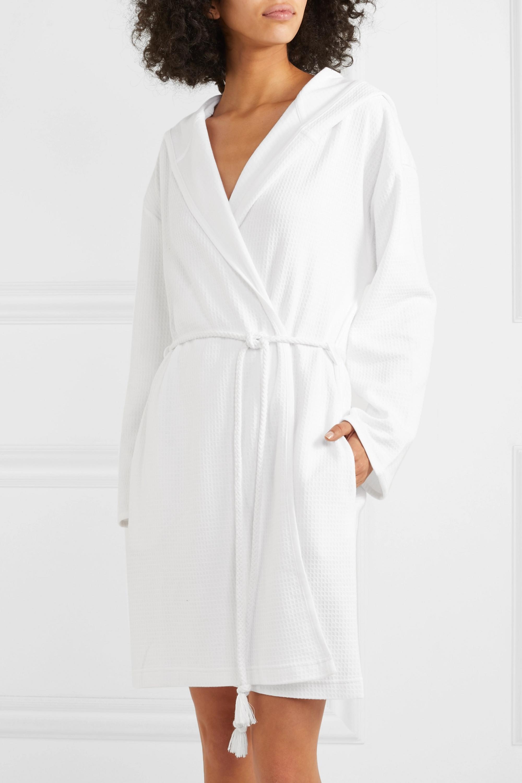 Skin Charlotte waffle-knit cotton robe