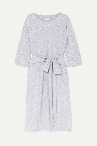 SKIN   Skin - Freda Mélange Cotton-blend Jersey Nightdress - Light gray   Goxip