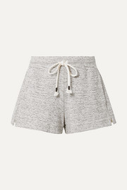 Teeghan striped Pima cotton and modal-blend pajama shorts