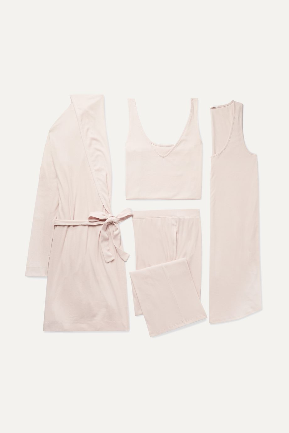 Skin Ribbed jersey gift set