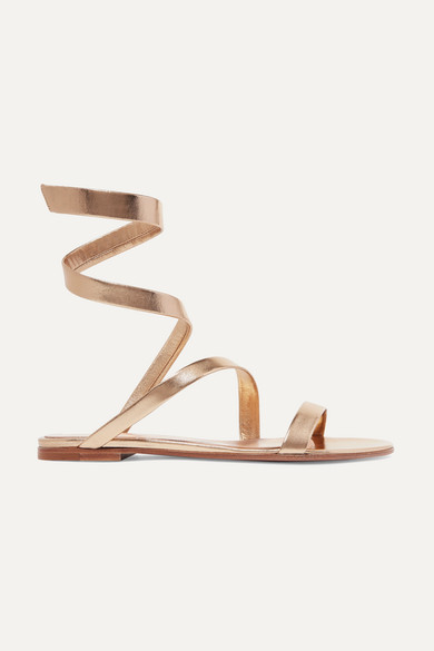 Opera Metallic Leather Sandals by Gianvito Rossi