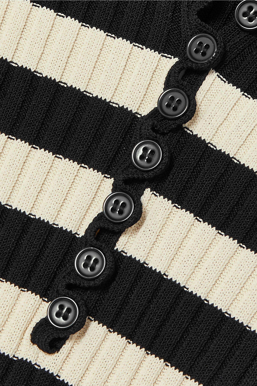 Altuzarra Sunday striped ribbed stretch-knit midi dress