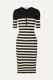 Altuzarra Sunday striped ribbed stretch-knit midi dress