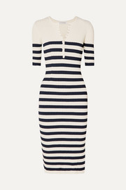 Sunday striped ribbed stretch-knit midi dress