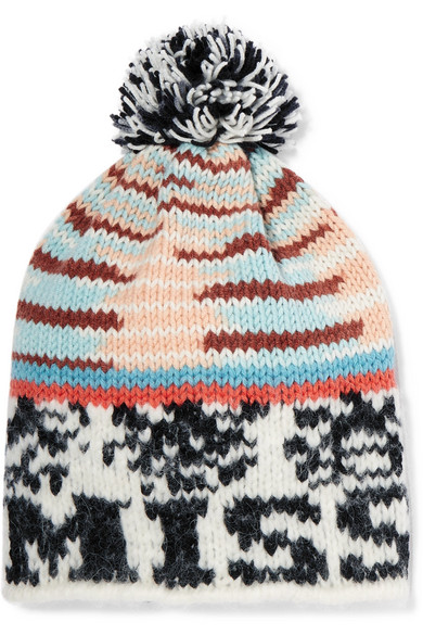777e07d06d8 Missoni. Pompom-embellished intarsia knitted beanie