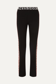 Missoni Intarsia wool-blend straight-leg pants