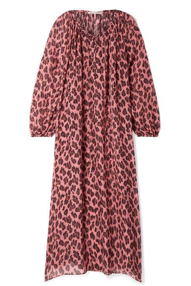 Stella Mccartney Silks Lace-up leopard-print silk-chiffon kaftan