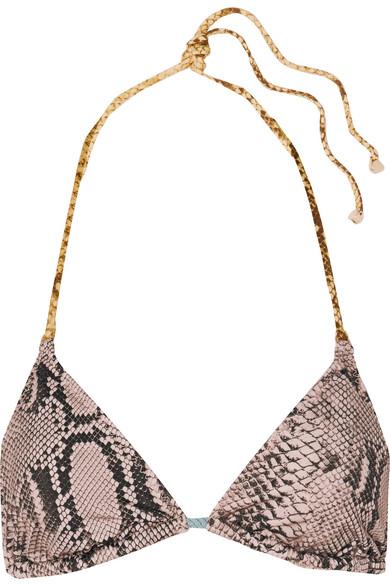 Stella Mccartney Haut De Bikini Triangle Drawstring Tunnels