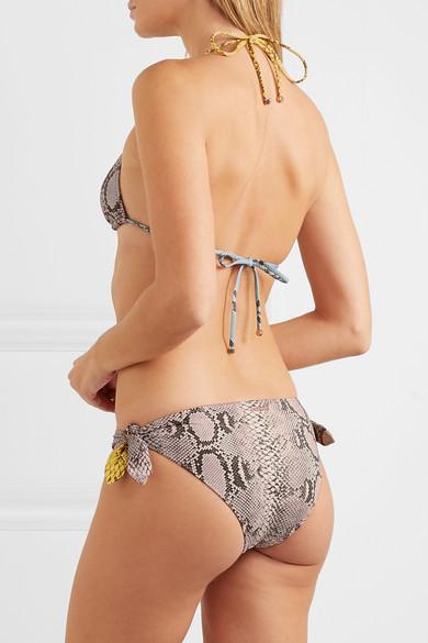 Stella Mccartney Pants Snake-print bikini briefs