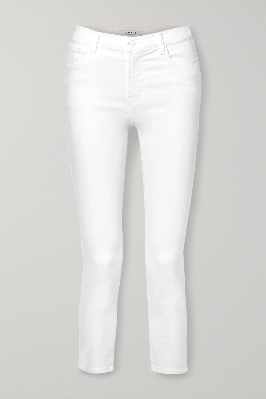 J Brand Ruby cropped high-rise straight-leg jeans