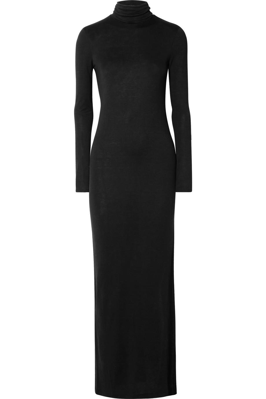 Ninety Percent | Stretch-Tencel turtleneck maxi dress | NET-A-PORTER.COM