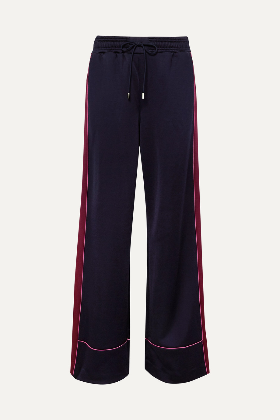 Ninety Percent Striped satin-jersey track pants