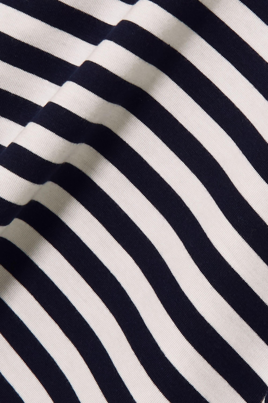 Ninety Percent Striped stretch-Tencel turtleneck top