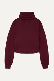 Ninety Percent Cropped organic cotton-jersey sweatshirt