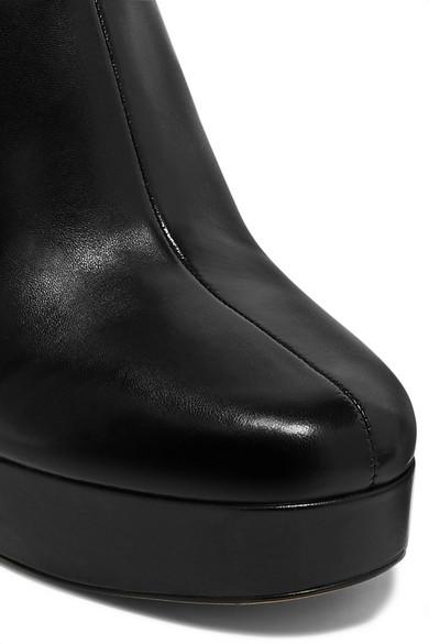 0b4780788258 Diane von Furstenberg. Yasmine leather platform ankle boots.  470. Zoom In