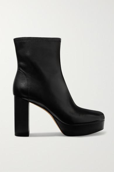 Diane Von Furstenberg Yasmine leather platform ankle boots