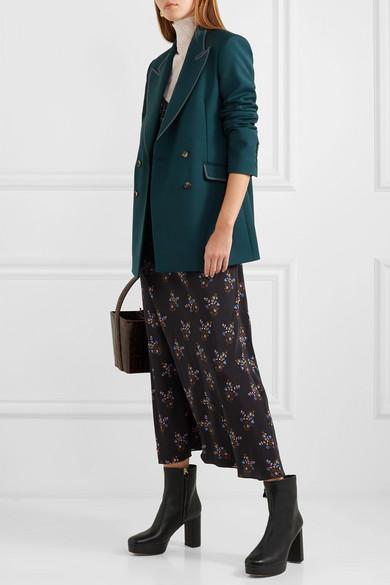 8e57d36b7a1b Diane von Furstenberg. Yasmine leather platform ankle boots