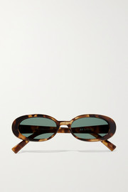 Outta Love oval-frame tortoiseshell acetate sunglasses