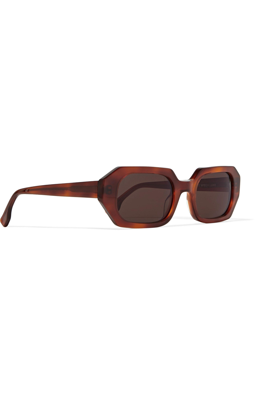 Le Specs La Dolce Vita octagon-frame tortoiseshell acetate sunglasses