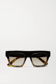 Subdimension D-frame tortoiseshell acetate sunglasses