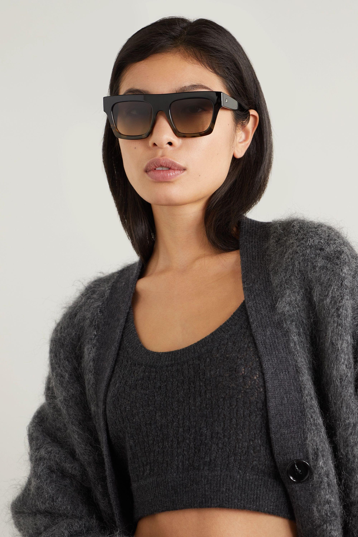 Le Specs Subdimension D-frame tortoiseshell acetate sunglasses