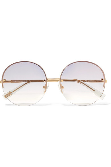 3ad0bc239d Le Specs | Say My Name round-frame gold-tone sunglasses | NET-A ...