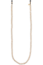 Rosantica Hollywood gold-tone, crystal and pearl sunglasses chain