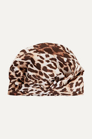 The Minx leopard-print shower cap