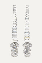 18-karat white gold and platinum diamond earrings