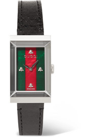 Gucci G-Frame ayers, stainless steel and mother-of-pearl watch