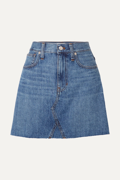 Madewell Skirts Frisco distressed denim mini skirt