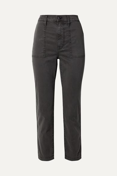Madewell Pants Stretch cotton-blend straight-leg pants