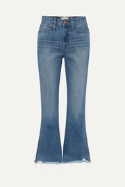 Madewell Rigid Flare distressed mid-rise flared jeans
