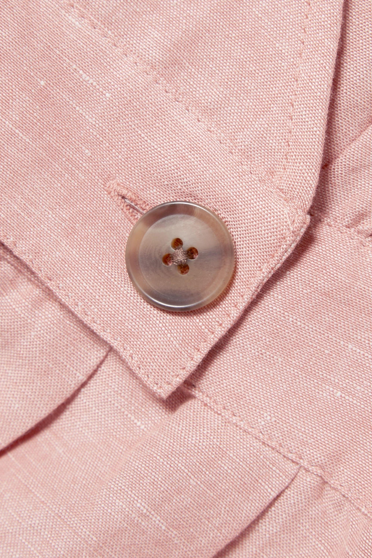 Madewell Wrap-effect linen-blend midi dress