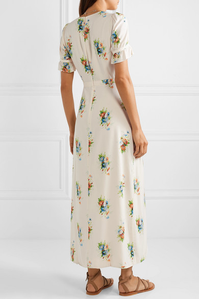 Madewell Dresses Magdalena wrap-effect floral-print voile maxi dress