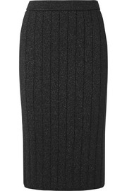 Marc Jacobs Ribbed stretch-Lurex pencil skirt