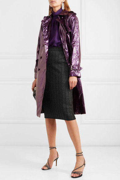 Marc Jacobs Skirts Ribbed stretch-Lurex pencil skirt
