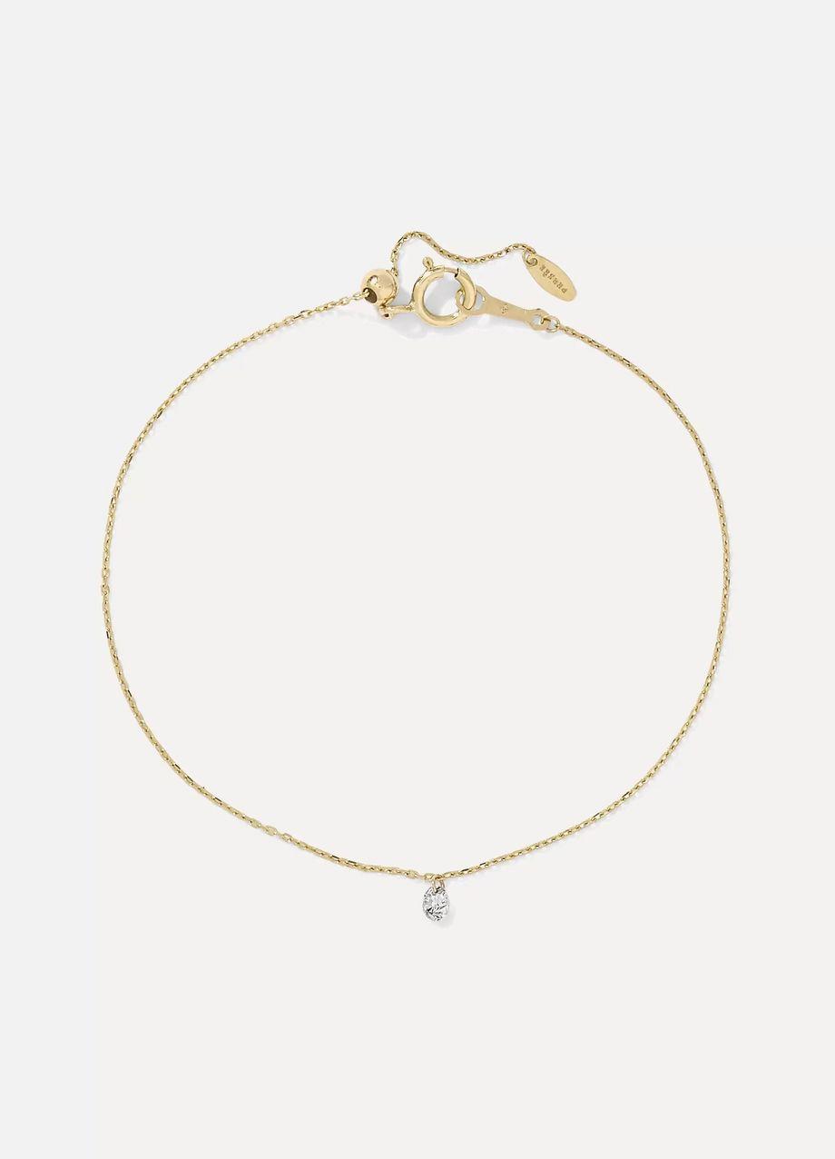 Persée Danae Armband aus Gold mit einem Diamanten