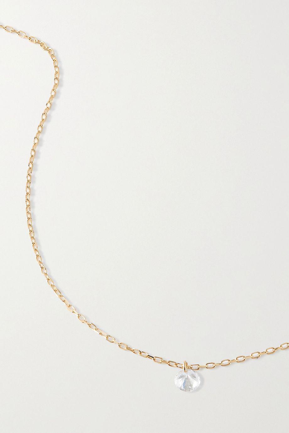 Persée Danae Kette aus Gold mit einem Diamanten
