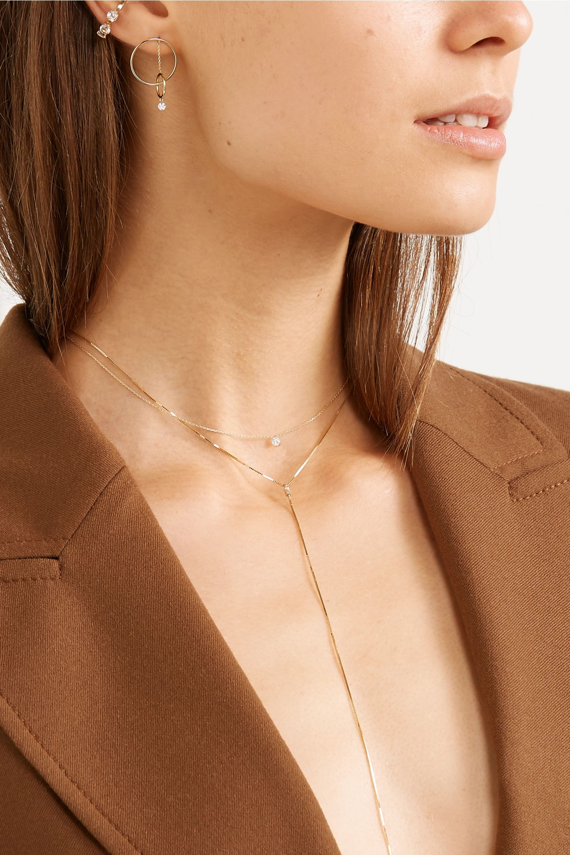 Persée Gaia 18-karat gold diamond earring